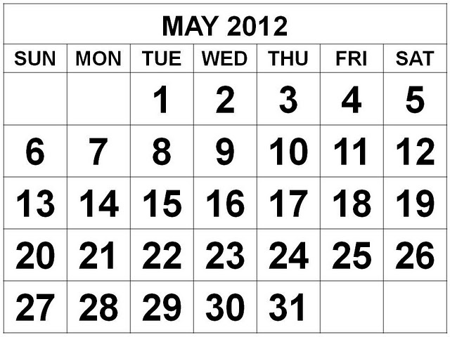 May 2012 Monthly Expenses