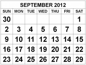 September 2012 Monthly Expenses